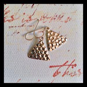 Vintage hammered sterling earrings